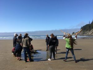 Seaside High Students visit Oswald West State Park